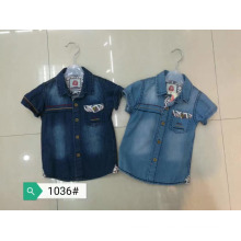 Cheap Kids Boys short sleeves fancy denim polo T-Shirt Jacket Clothes Suit