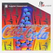 Neues Design holographisches Laser-Private-Label für Weinflasche