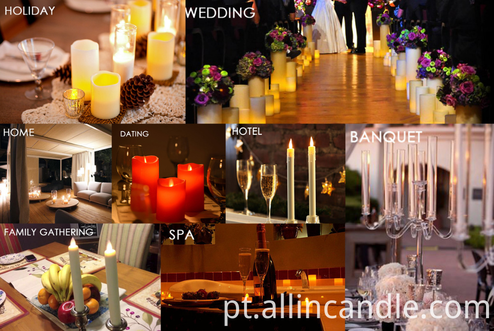 Electric Candle Flameless Moving Wick Led Candle