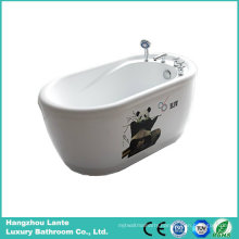 Acrylic Freestanding Bathtub with Printed Panda (LT-1E)