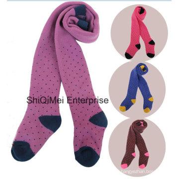 Meninas crianças meias-calças Leggings Calças de algodão