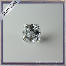 Excellent Princess Cut Clear White CZ Gemstone for Jewellery