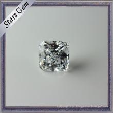 Excelente pedra preciosa Princess Cut Clear White CZ para joalharia