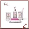 4pcs rose decals ceramic bathroom set