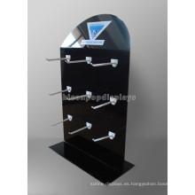 12 Ganchos 3-Layer Black Metal Counter Top Equipo Comercial Cusom Batería Seca Batería Pantallas