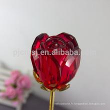 Durable en utilisant la fleur de cristal rose à bas prix