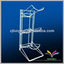 Robustes soudées 3 étages blanc 5gallon métal bouteille d'eau étagère étagère