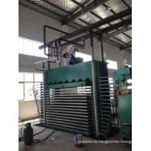 Máquina caliente de la prensa para cubrir la madera contrachapada con la película