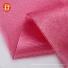 Kleidungsstück Polyester steifen Organza-Stoff für Hochzeitskleid