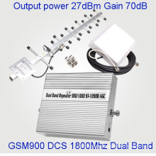 27dBm Power Mobile Signal Booster Dual Band 900 / 1800MHz GSM Dcs Repeater