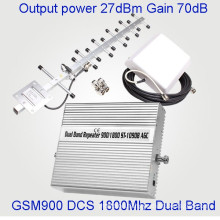 27dBm Power Mobile Signal Booster Dual Band 900/1800MHz GSM Dcs Repeater
