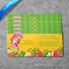 Etiquetas de pendurar lindas marcas personalizadas / etiqueta de papel para roupas infantis