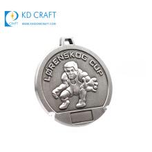 Manufacturer custom metal personalized world championship martial arts award silver medal