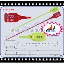 vedação de plástico ajustável BG-S-003, vedação de plástico