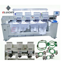 Commercial embroidery machine with 4 heads