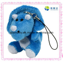 Blue Dinosaur Soft Keychain Plush Toy (XDT-0070Q)