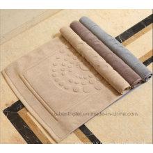 Serviette de sol en jacquard pour tapis de bain antidérapant 100% coton