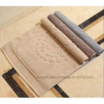 100% Cotton Non-Slip Bath Mat Jacquard Floor Towel