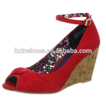 2015 Latest Design fashion sexy girls flat woman shoe red sandal shoes