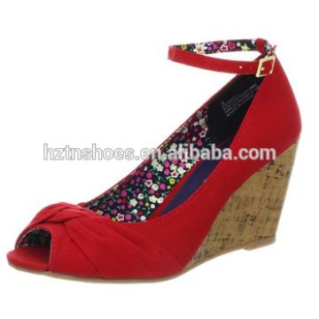 2015 Latest Design fashion sexy girls flat woman shoe red sandal shoes