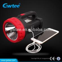 Made in china Super brilho carregador USB rechargeble conduziu tocha de searchlight