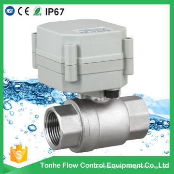NSF61 Controlador de agua Temporizador Jardín Válvula de bola eléctrica de acero inoxidable