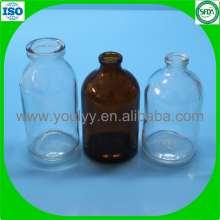 Botella 100ml clara y ámbar moldeada