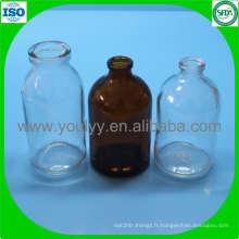 Fiole moulée transparente et ambrée de 100 ml