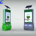 Sided solar outdoor advertising trash bin light box