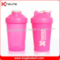 400ml blender shaker water bottle custom protein shaker bottle sports bottle shaker cup gym shaker fitness bottle bap free water bottle with mixer (KL-7011)