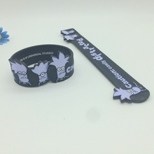 Debossed Figured Slap Bracelets with Ink Filled