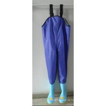 Blauer Farbe Kinder PVC Brust Wathose PVC-002