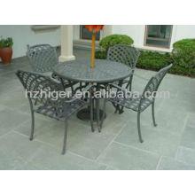 Mobilier d'extérieur 7pc set chaise de loisirs table d'extérieur
