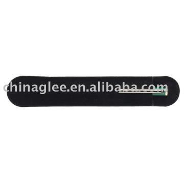 Stock black velvet pen pouch