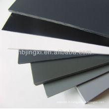 Feuille rigide de PVC gris