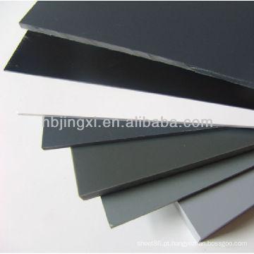 Folha Rígida de PVC Cinza