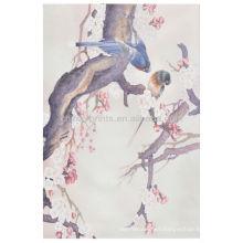 Pájaro clásico del estilo chino en la pintura de la lona