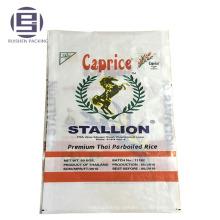 Напечатанный сплетенный PP пакуя мешок риса 5кг 10кг 25кг