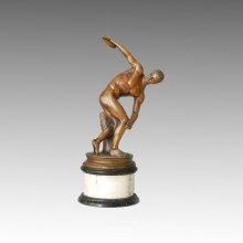 Спортивная статуя Discus Throw Bronze Sculpture, Myron TPE-114