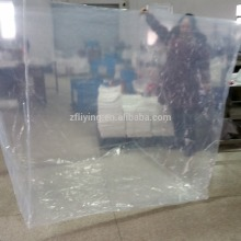 Big square bottom poly pallet cover, Big clear plastic pallet cover