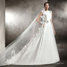 Высокого Quaity Атласная Свадебное Платье