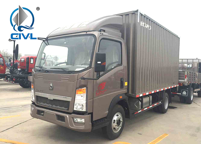 Brown Van Cargo Truck 5