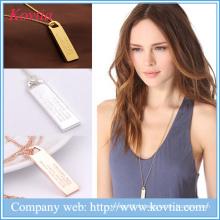 Nouveaux produits Collier plaqué or en or blanc 2016 Collier à cordes longues
