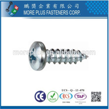 Fabriqué en Taiwan 304 en acier inoxydable PZ Pan Head M6 Self Tapping Screws