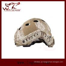Camuflagem militar capacete tático da Marinha Pj capacete com viseira