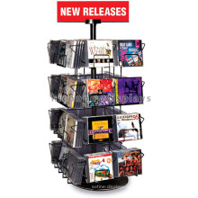 Supermarkt Counter Top 4-Tier Metall Display Regal, 32 Draht Taschen Audio Shop Cd Display Regal
