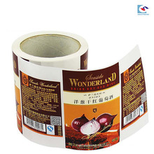 Art Paper Material Matte Laminierung Rotwein Etikett Aufkleber drucken