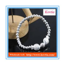 fashion design 925 sterling silver beads bangles bracelet