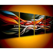 Abstrato da pintura fácil da lona do grupo