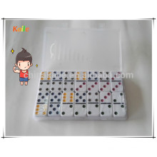 Kids Play Colored Dots Dominoes For Wholesale With Transparent Case